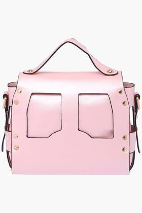 Womens Metallic Lock Closure Slingbag