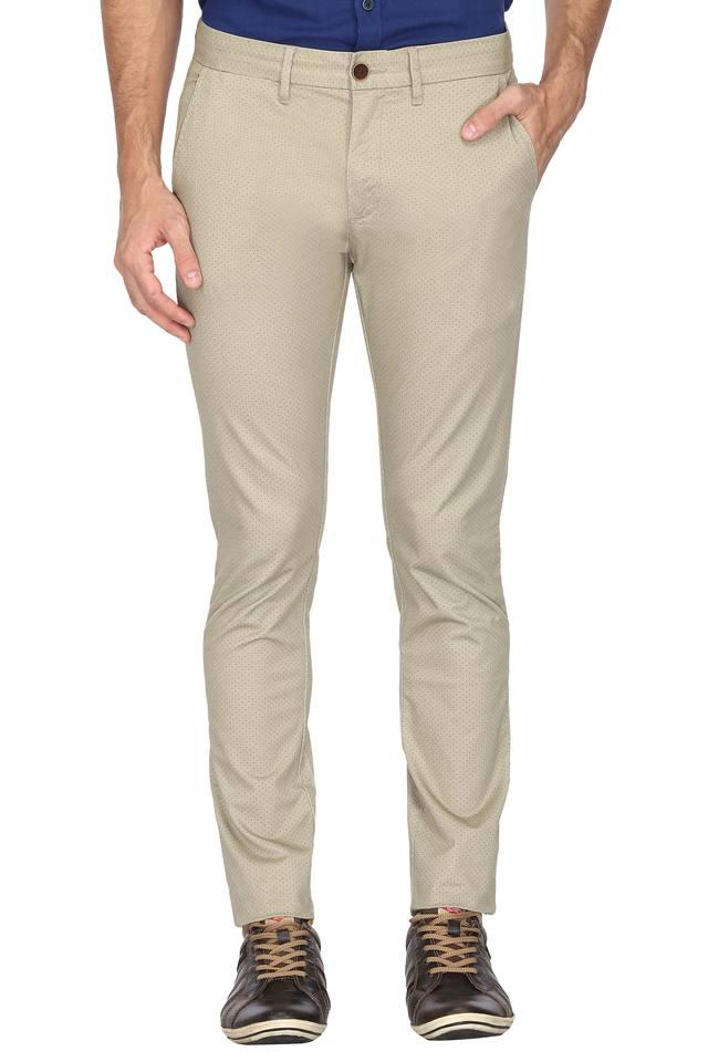 Mens 5 Pocket Printed Trousers