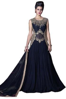 DEMARCAWomens Georgette Dress Material - 203984103_9308
