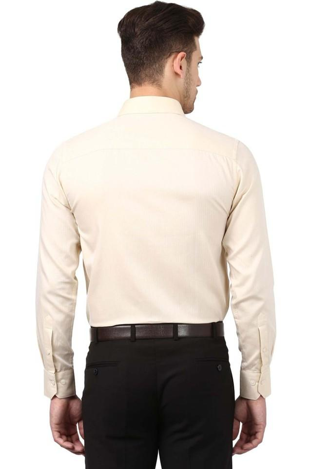 Mens Slim Collar Herringbone Shirt