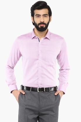 Mens Slim Collar Printed Shirt (Durapress)