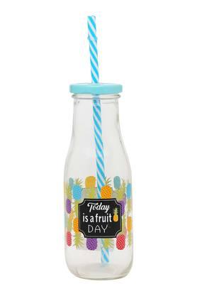 IVYRound Printed Bottle With Straw