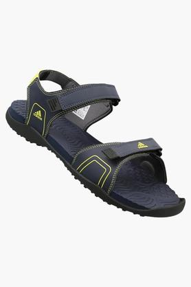 ADIDASMens Synthetic Leather Velcro Closure Sandals