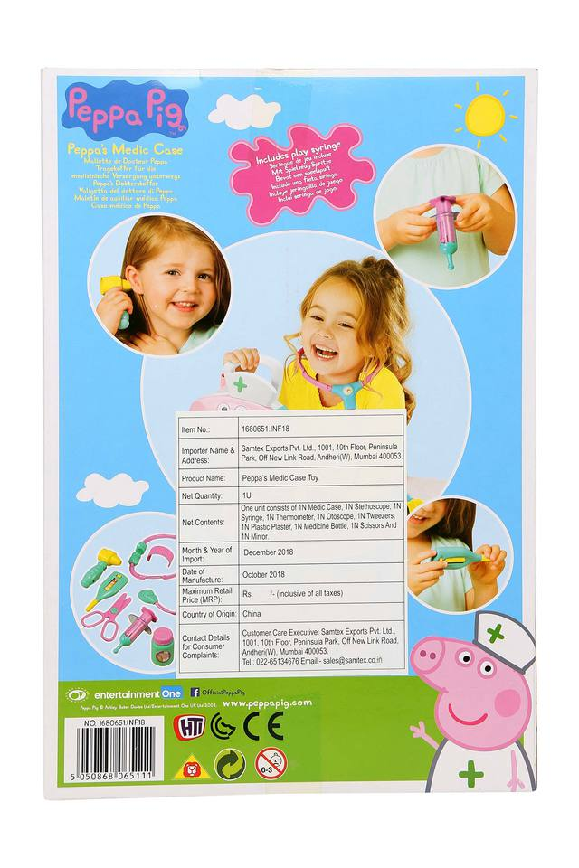 Kids Peppa Pig Medic Case Toy Set - 9 Pieces