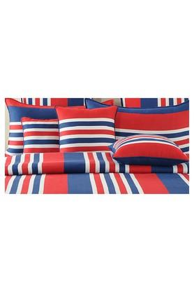 Stripe Double Fitted Bed Sheet with 2 Pillow Covers