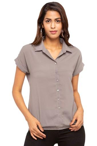 Womens Solid Casual Top