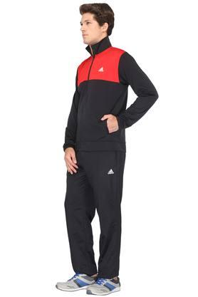 Mens Zip Through Neck Solid Track Suits