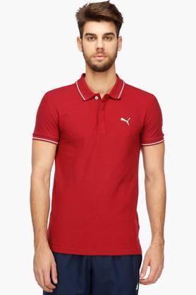 PUMAMens Solid Polo T-Shirt - 203325393