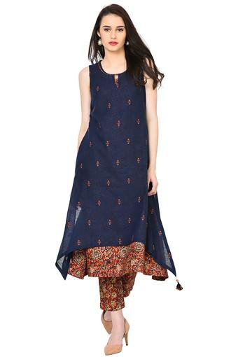 062fbf7db66753 Buy RANGRITI Womens Printed Double Layered Kurta | Shoppers Stop