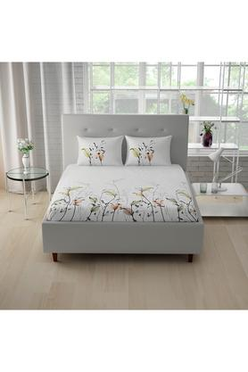 SPACESCotton Printed Double Bedsheet With 2 Pillow Covers - 203257471_9900