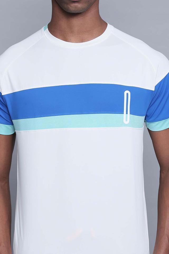 Mens Round Neck Colour Block T-Shirts