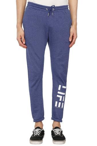 A086 -  Grey MelangeCasual Trousers - Main