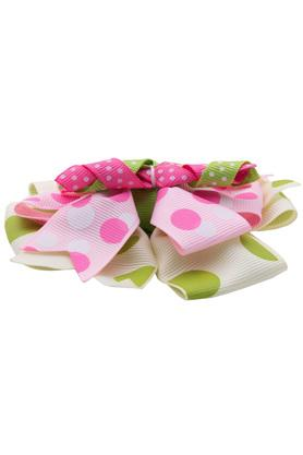 Girls Polka dots Ribbon Bow Hair Clip