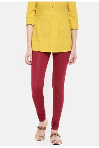 DE MOZA -  Maroon Jeans & Leggings - Main