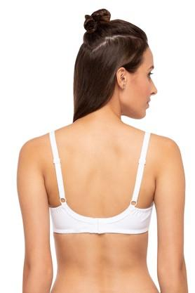 Womens Solid Non Wired Non Padded Push Up Bra