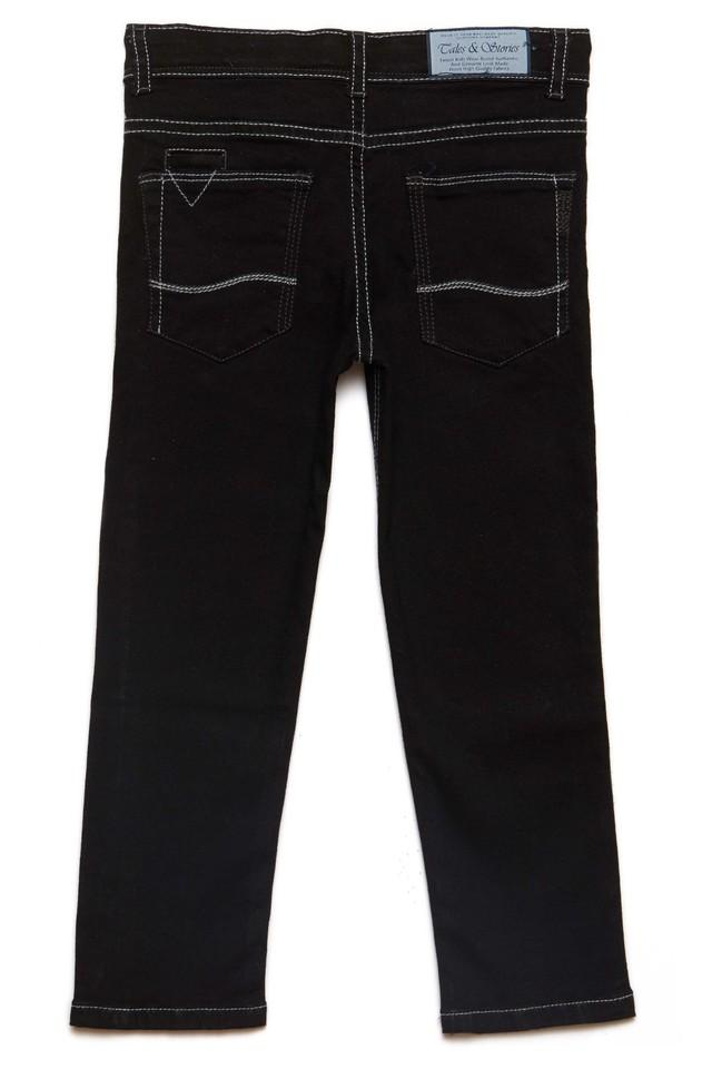 Boys 4 Pocket Solid Jeans