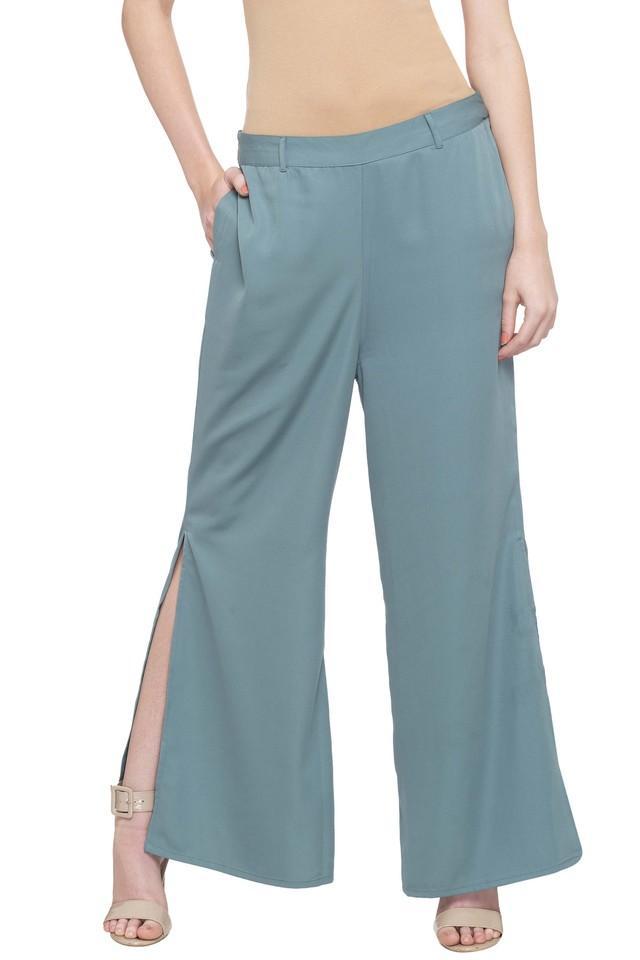 Womens Full Length Solid Pants
