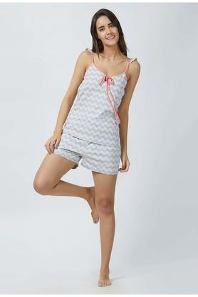 Womens Spaghetti Neck Stripe Shorts and Top Set
