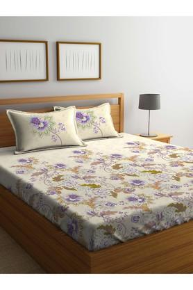 PORTICO Floral Printed Double Bed Sheet With Pillow Cover - 203989985_9900