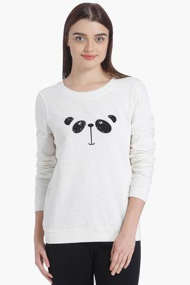 VERO MODA Womens Round Neck Printed Sweatshirt