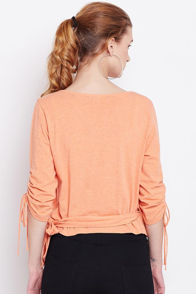 Womens V- Neck Slub Top