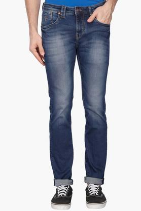 FLYING MACHINE Mens Skinny Fit Heavy Wash Jeans (Jackson Fit) - 202896841