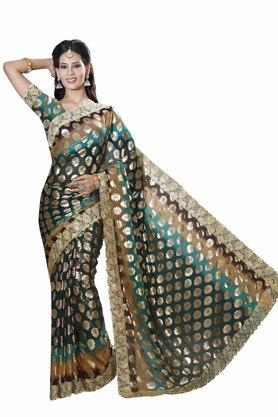 Womens Chiffon Padding Designer Saree