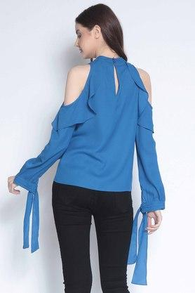 Womens High Neck Solid Top