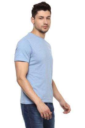 Mens Slim Fit Round Neck Slub T-Shirt