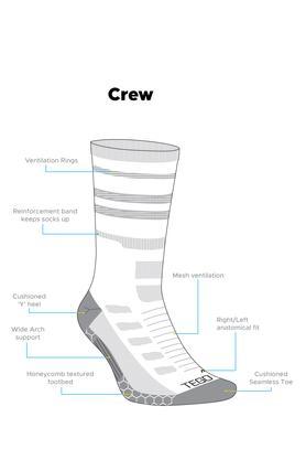 Unisex Colour Block Crew Socks