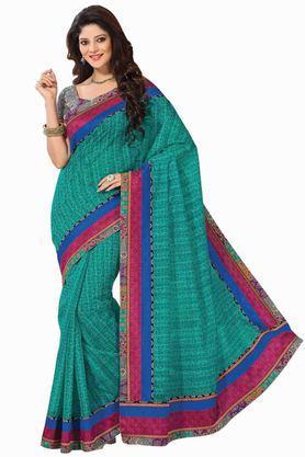 ASHIKACotton Ethnic Saree With Blouse Piece - 204136421_7086