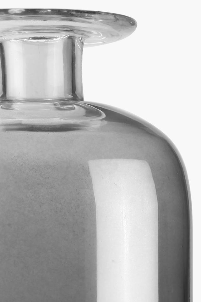 Solid Bluesteel Cylindrical Vase