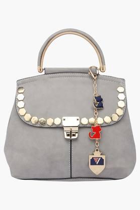 FRATINI WOMANWomens Metallic Lock Closure Satchel Handbag