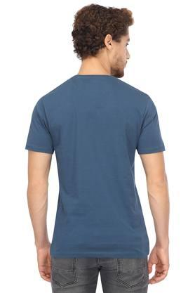 Mens Straight Fit Round Neck Graphic Print T-Shirt