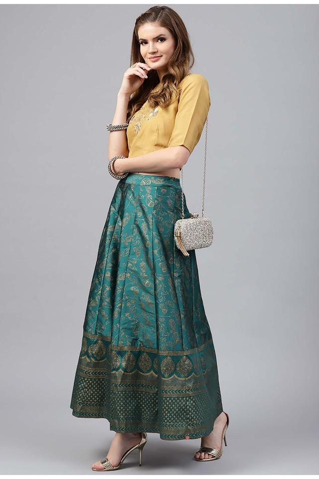 Womens Round Neck Embroidered Lehenga and Choli