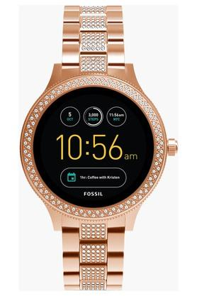 FOSSIL Womens Q Venture Rose Gold-Tone Stainless Steel Gen 3 Smart Watch - FTW6008