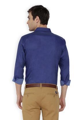 Mens Slim Fit Slim Collar Slub Shirt