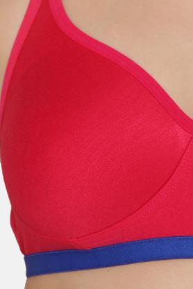 Womens Solid Padded Non Wired Full Coverage Bra