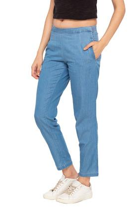 Womens 2 Pocket Washed Pants