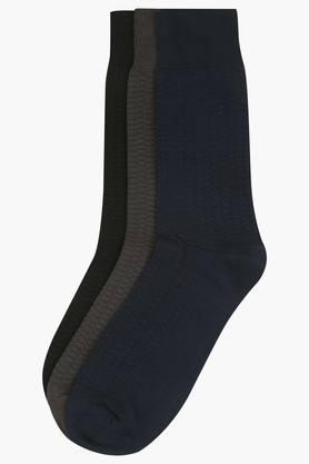 STOP Mens Solid Socks Pack Of 3 - 9813059_9900