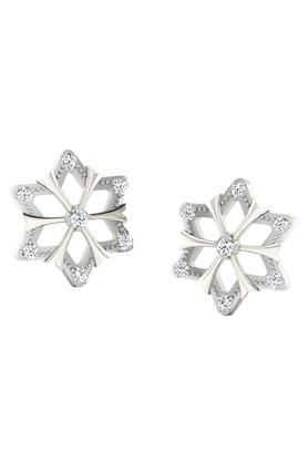 SILVER IMPRESSION Sparkles 18 Kt 0.06 Cts Diamond Earrings - T10291