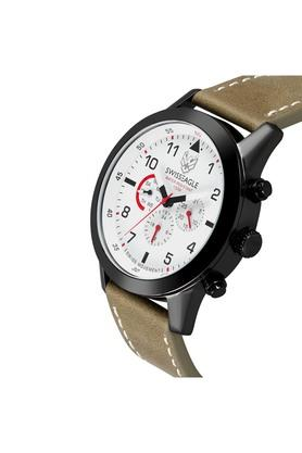 Mens Off-White Dial Multi-Function Watch - SE-9136-02