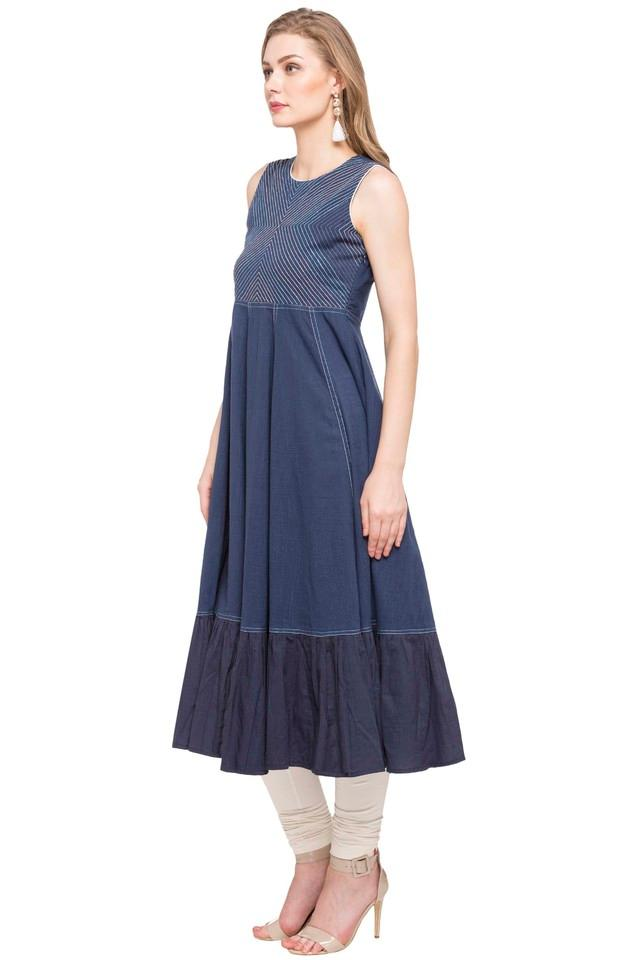 Womens Embroidered Flared Dress