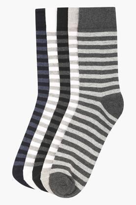STOPMens Stripe Socks Pack Of 5