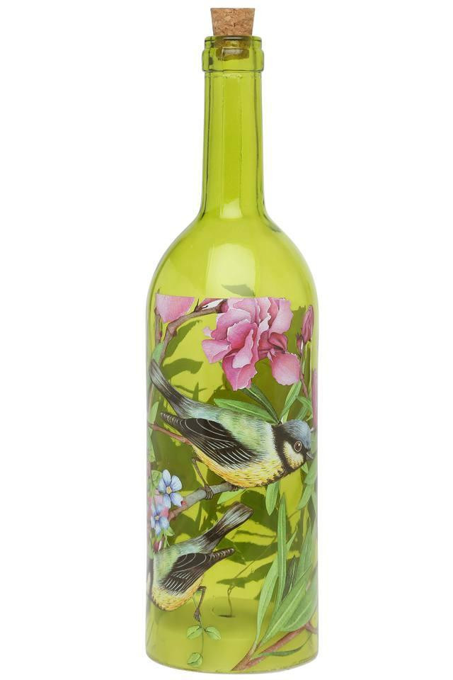 Printed Glass Bottle Lamp