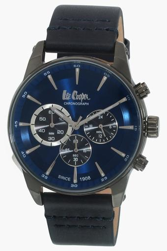 Mens Leather Chronograph Watch - LC06361099
