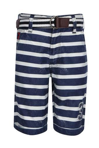 Boys 4 Pocket Striped Shorts