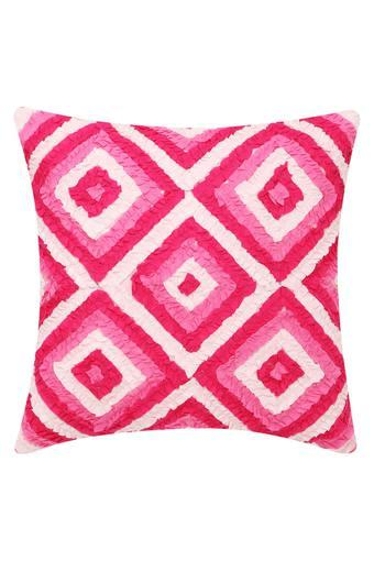 Square Self Pattern Cushion Cover