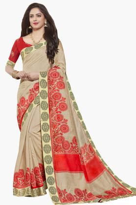 ISHINWomens Art Silk Printed Saree - 203495525_9111