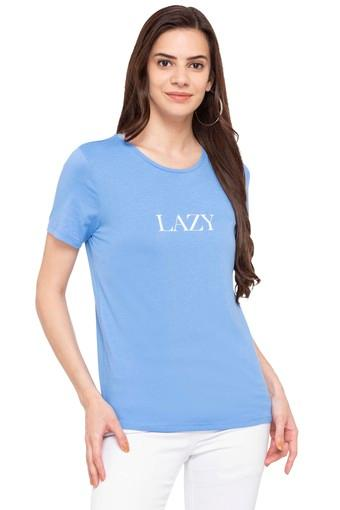 Womens Regular Fit Round Neck Solid Top